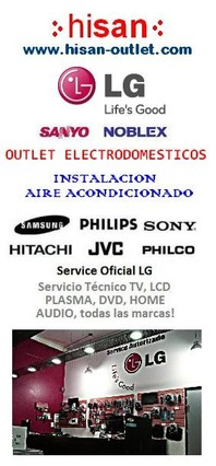 Hisan outlet electrodomesticos lg sanyo noblex philips en liniers capital federal argentina - Outlet electrodomesticos ...